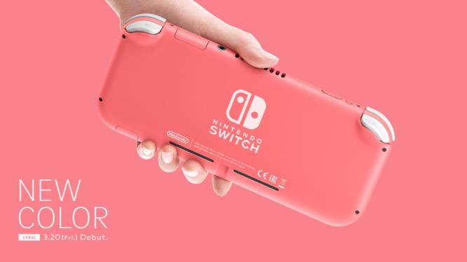 Coral (Pink) Nintendo Switch Lite
