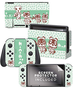 Tom Nook & Friends Nintendo Switch Skin Bundle
