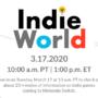 Indie World March 17, 2020