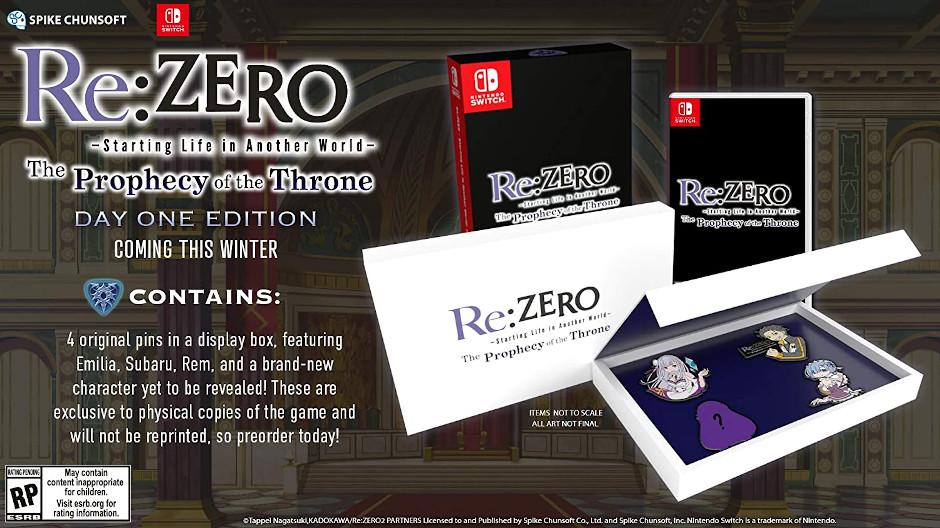 ReZero Throne of Phrophecy collector's edition